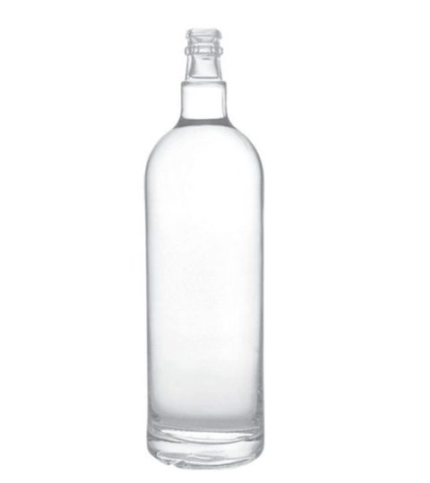 ROUND 1 LITER GLASS BOTTLE FOR VODKA