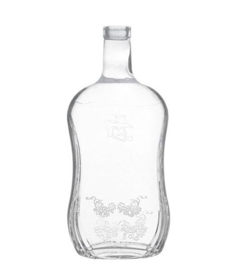 3L GLASS BOTTLE EMBOSS LOGO FOR BRANDY WHISKY