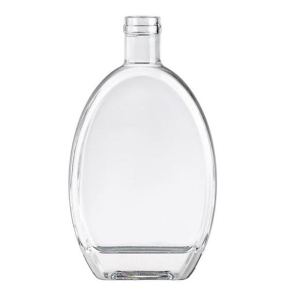 500ml glass bottles for liquor flat shape