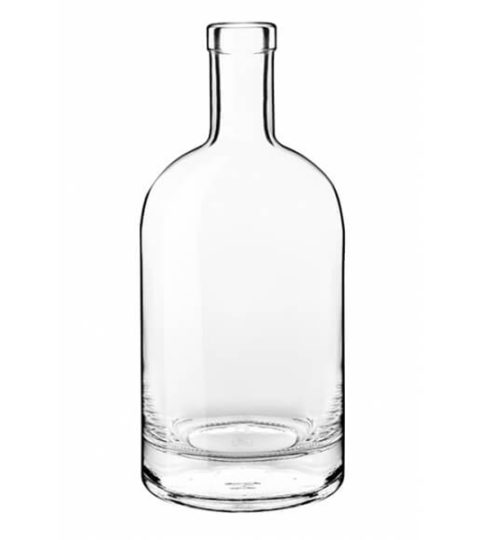750ML VODKA GLASS BOTTLE CORK TOP FINISH
