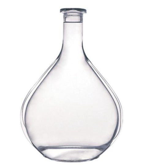 PREMIUM WHITE GLASS 700ML BRANDY BOTTLE