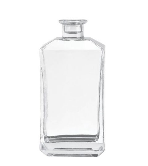 CRYSTAL SQUARE 75CL / 750ML GLASS BOTTLE