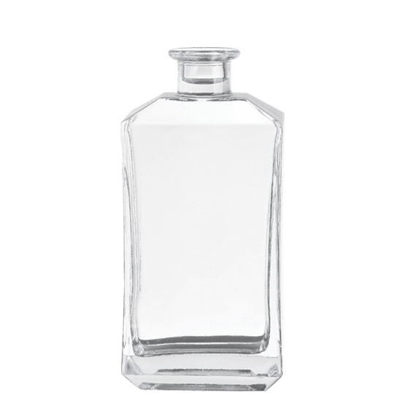 crystal square 75cl 750ml glass bottle