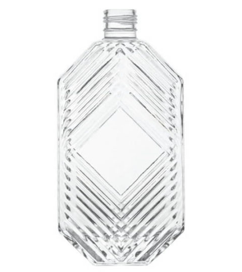 CUSTOM GLASS BOTTLES 500ML UNIQUE SPIRIT BOTTLE