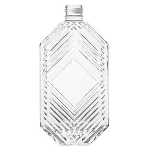 custom glass bottles 500ml unique spirit bottle