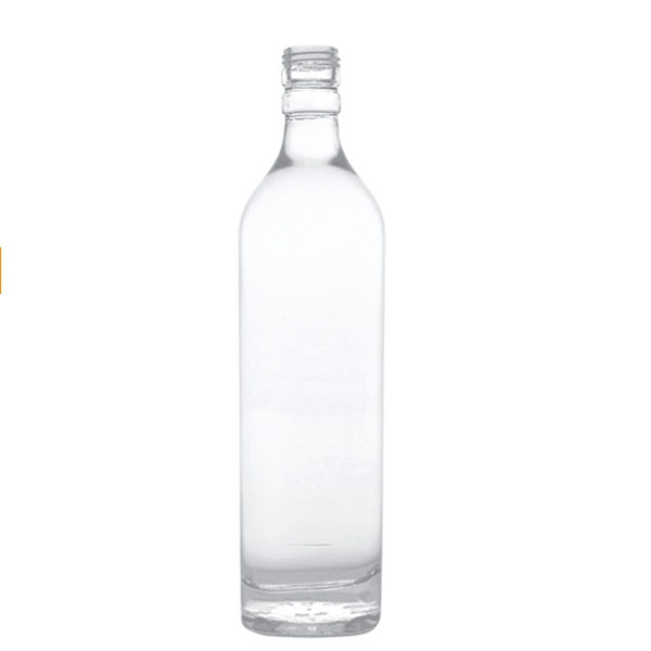 round 50cl screw top glass liquor bottle