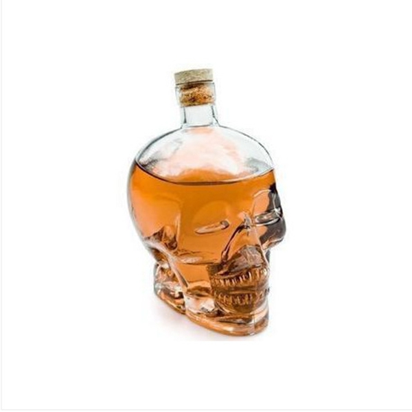 shaped liquor glass bottle