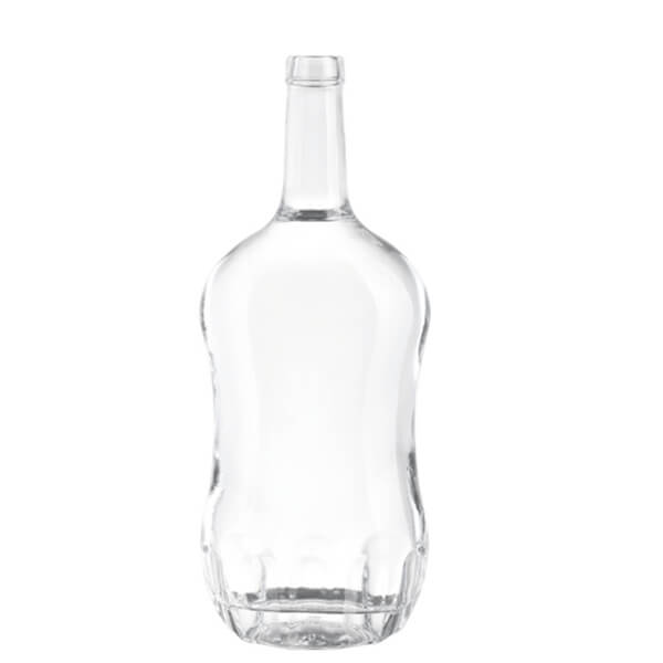 WHISKEY 1 LITER GLASS BOTTLES