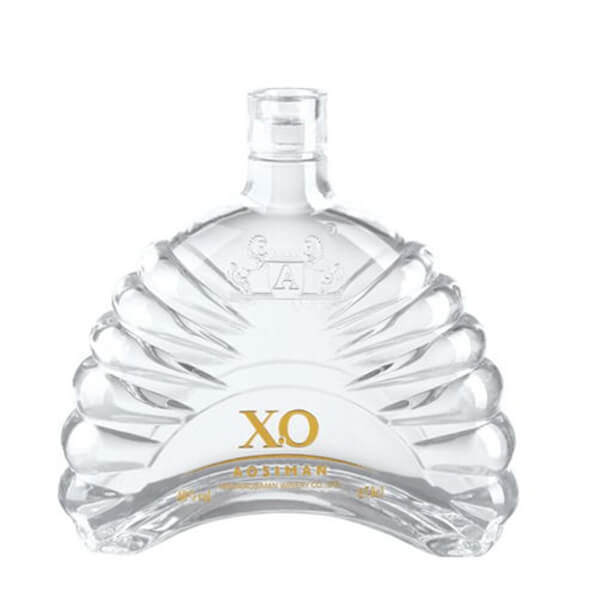 classic xo glass bottle