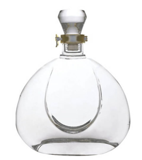 75CL COGNAC CUSTOM GLASS LIQUOR BOTTLES