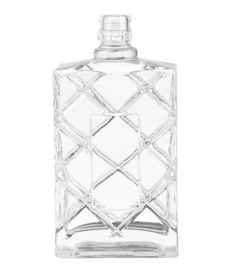 CUSTOM VODKA BOTTLE 700ML SQUARE SPIRIT BOTTLE