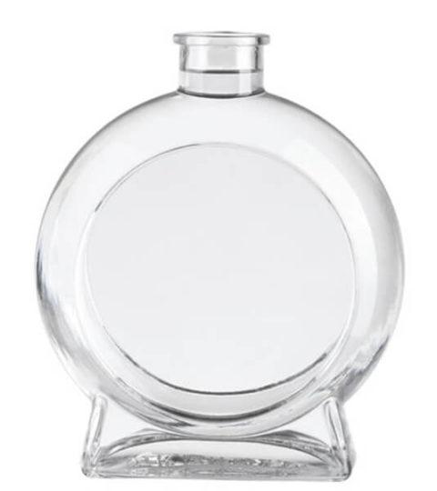 750ML ROUND SHAPE UNUSUAL GLASS BOTTLES