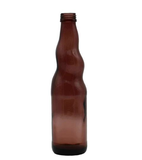 BROWN GLASS BEVERAGE BOTTLE FOR WHOLESALE
