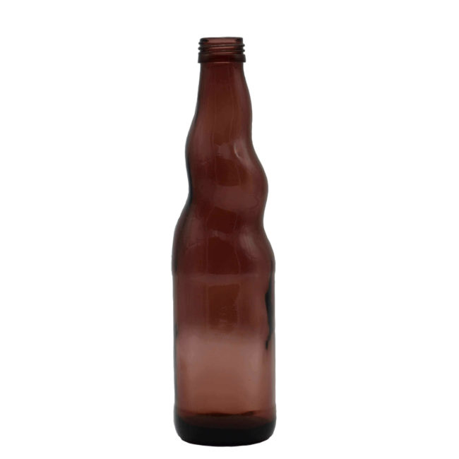 brown colored glass drinks bottles