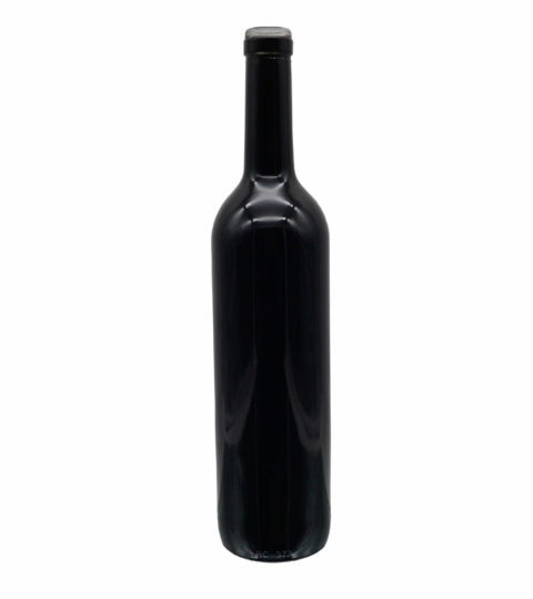 BLACK COLORED GLASS WINE BOTTLE MANUFACTURER