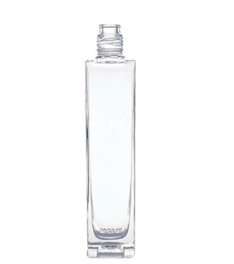 CLEAR SQUARE GLASS ALCOHOL BOTTLE SUPPLIER
