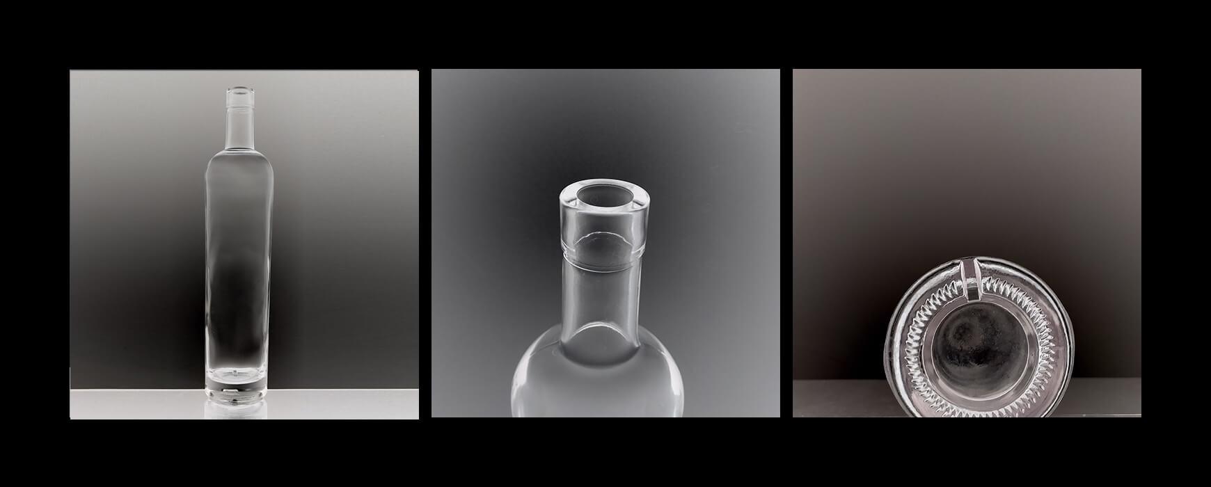 glass 750ml liquor bottle